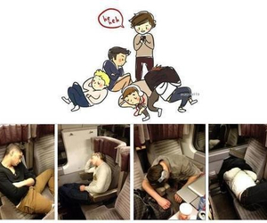 sleeping and one direction image
