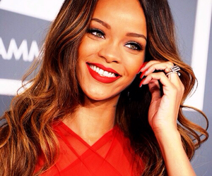rihanna, red, and smile image
