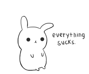 bunny, sucks, and everything image