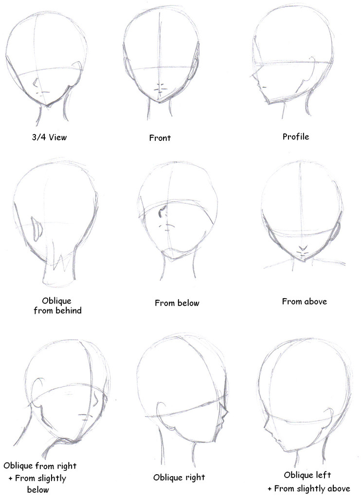 How To Draw A Manga Face On We Heart It