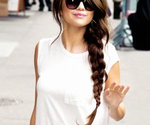 hair, outfit, and selena gomez image