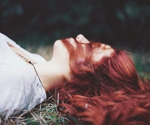 alone, girl, and red hair image
