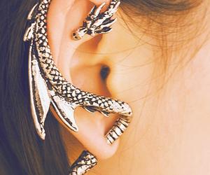 dragon, earrings, and ear image
