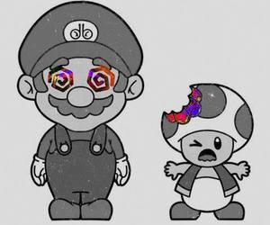 mario, drugs, and mushroom image
