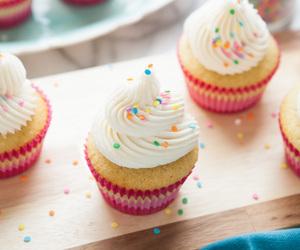 buttercream, cupcakes, and vanilla image