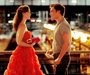 gossip girl, red dress, and movies image
