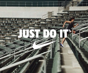 nike, Just Do It, and run image