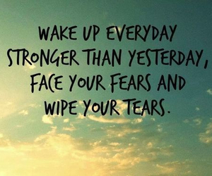 strong, quote, and tears image