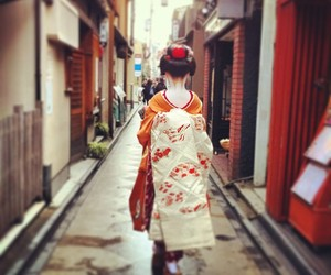 geisha, japan, and kyoto image