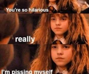 emma watson, funny, and harry potter image