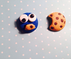 cookie monster, miniature, and polymer clay image
