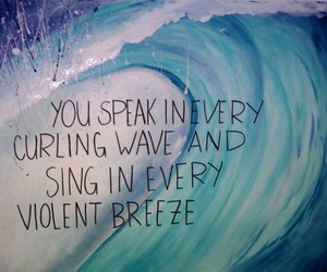 quote, waves, and text image