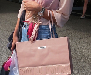 bag, miu miu, and shopping image