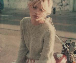 bike, blonde, and mint green image