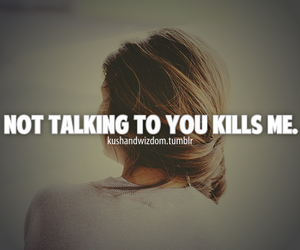 not talking and love image