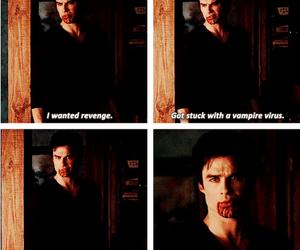 the vampire diaries, damon salvatore, and ian somerhalder image