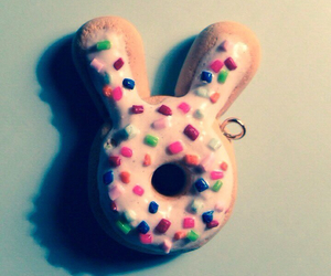 bunny, cookie, and polymer clay image