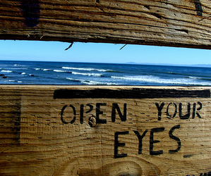eyes, sea, and beach image