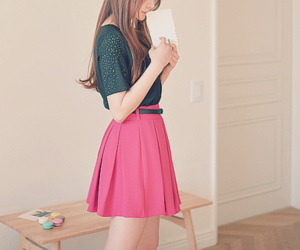 girl, kfashion, and korean fashion image