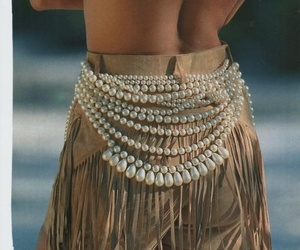 belt, jewelry, and pearls image