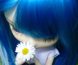 blue hair and doll image