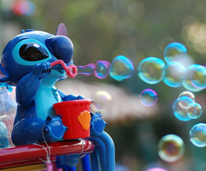 stitch, bubbles, and disney image