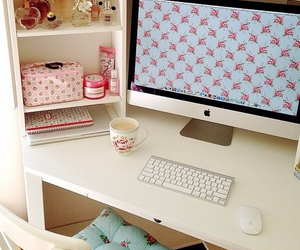 computer, girly, and pink image