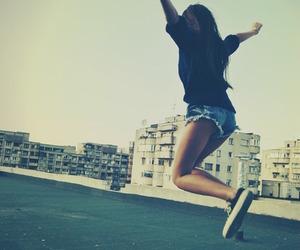girl, jump, and summer image