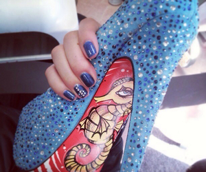 blue heels, cute shoes, and love this image