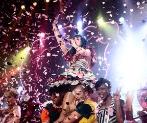 confetti, katy perry, and singing image
