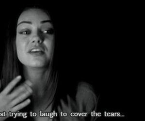 tears, sad, and Mila Kunis image