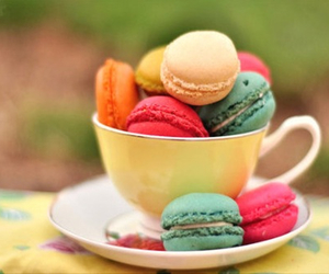 colors, macarons, and sweet image