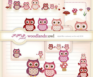 owl, owls, and stationery image