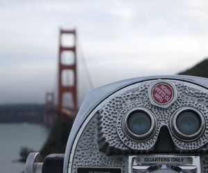 california, golden gate bridge, and photography image
