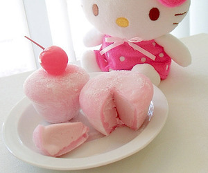 hello kitty, pink, and sweet image