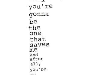 maybe, quote, and wonderwall image
