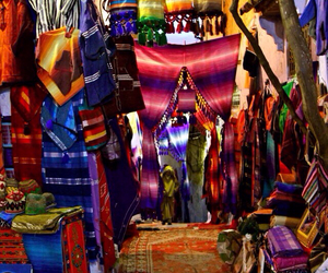 market, souk, and morocco image