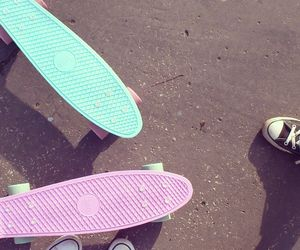 pastel, tumblr, and penny board image