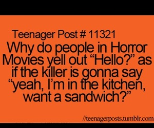 funny, hello, and horror image