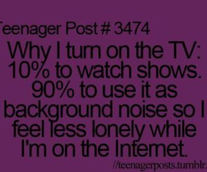 teenager post, tv, and internet image