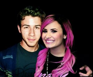 demi lovato and pink hair image