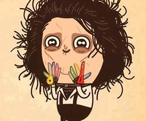 drawing, lol, and edward scissorhands image
