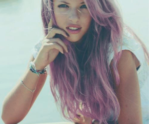 colorful hair, dyed hair, and pink hair image