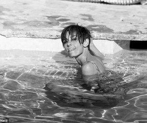 audrey hepburn, water, and pool image