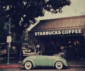 vintage, car, and coffee image