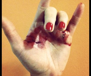 blood, hand, and pitty image