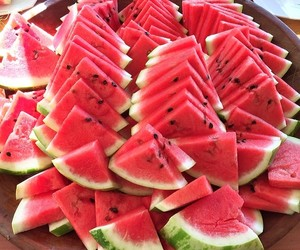 food, healthy, and watermelon image