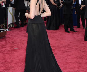 black dress, open back, and anna kendrick image