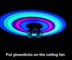 glowsticks, diy, and fan image