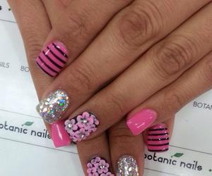 acrylic, glitter, and pink image